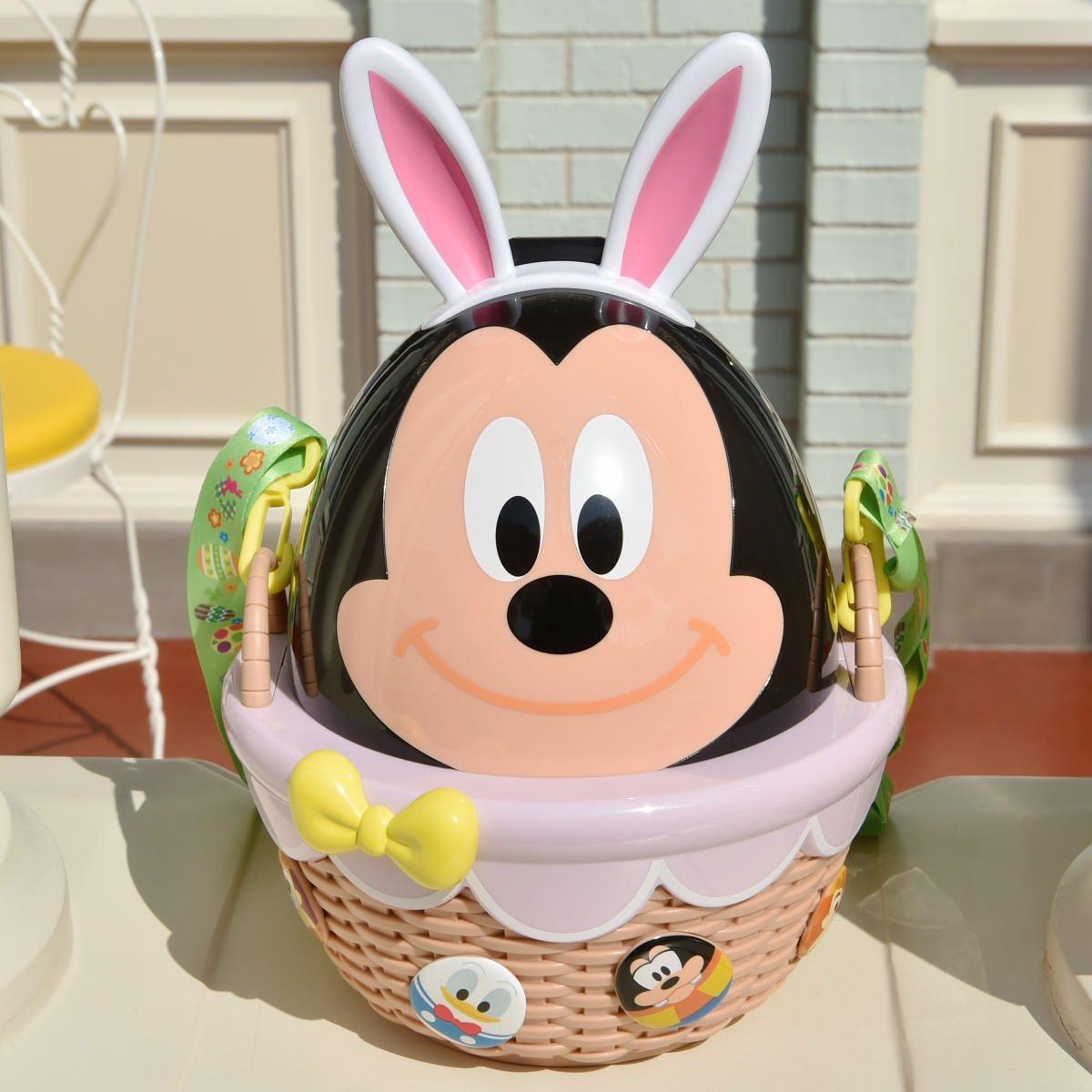 X射線【C141003】日本東京迪士尼代購-米奇Mickey 復活節彩蛋限定版造型爆米花桶,包包掛飾/鑰匙圈/置物桶/收納架/收納包