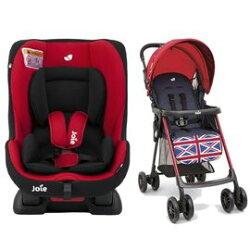 奇哥 - Joie - tilt 0-4歲雙向汽車安全座椅(汽座) 紅黑 +Joie New aire 輕便推車 (米字紅) 5980元