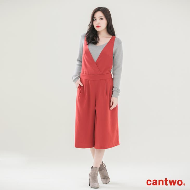 cantwo前打褶寬口九分褲(共二色) 0
