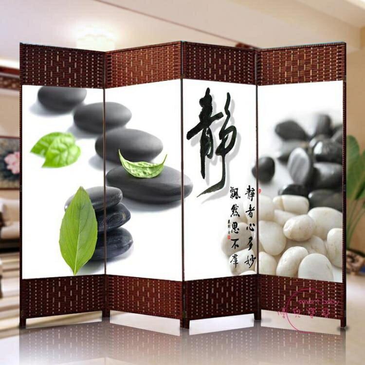 樂天優選-屏風辦公室客廳移動折疊屏風時尚現代簡約臥室折屏隔斷餐廳雙面屏xw