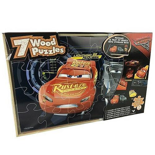 《汽車總動員Cars》Cars3大型木頭拼圖(7款)