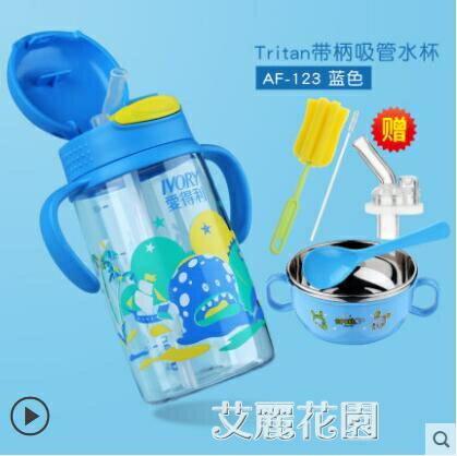 吸管杯兒童水壺防摔寶寶喝水杯子帶吸管小孩外出攜帶飲水杯 摩登生活