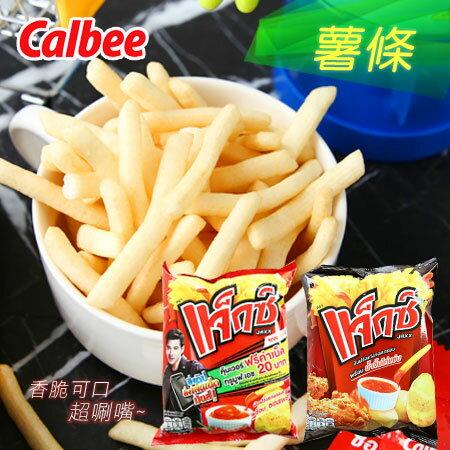 泰國 calbee 沾醬薯條 55g 薯條餅乾 餅乾 辣雞汁薯條 香辣薯條 辣味餅乾 薯片 脆片 薯條【N102754】