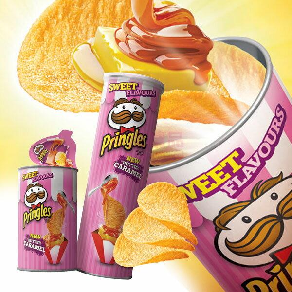 韓國 品客 Pringles 洋芋片 奶油焦糖(粉紅限定版) 53g 迷你小罐【特價】§異國精品§