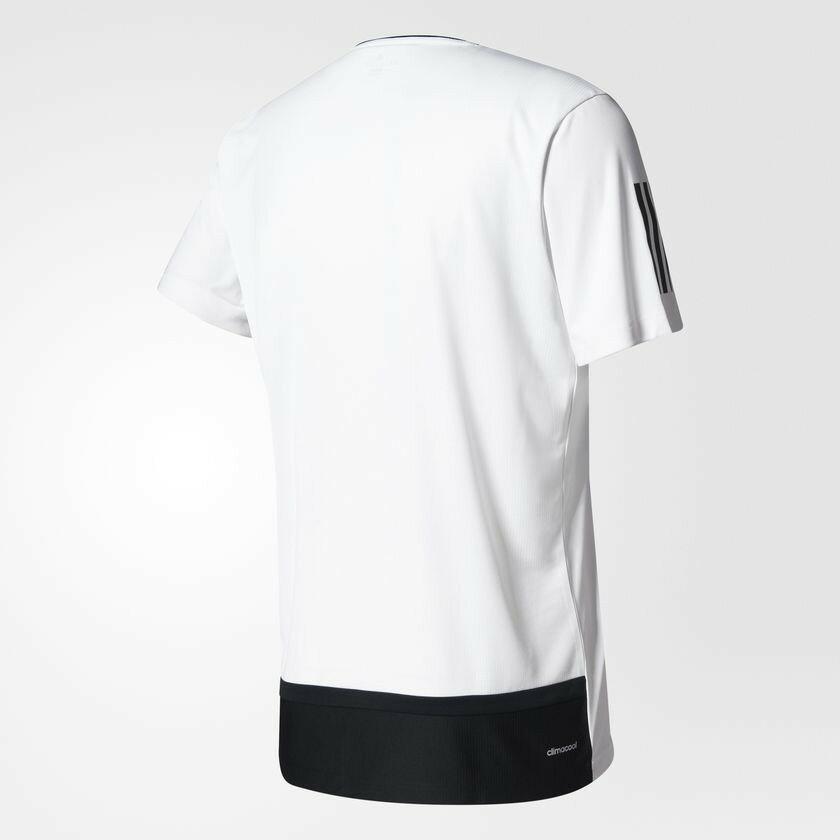 18SS ADIDAS 男款 短袖 網球T恤 CLUB TEE系列 BK0701 白x黑【樂買網】
