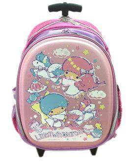 【真愛日本】16080200002拉桿書包-TS飛馬粉 三麗鷗家族 Kikilala 雙子星 書包 背包 正品