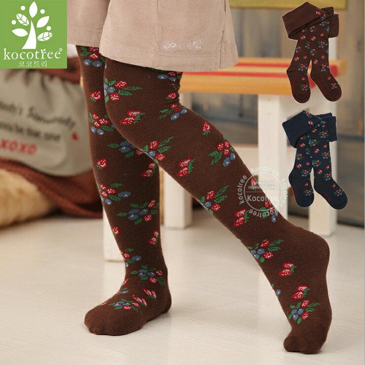 WallFree窩自在~ 百搭甜心莓果提花嬰兒兒童連褲襪^( 0~8歲^)