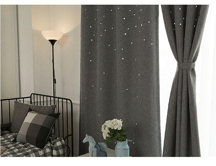 【巴芙洛】棉麻鏤空星星-遮光窗簾-兩款顏色 2