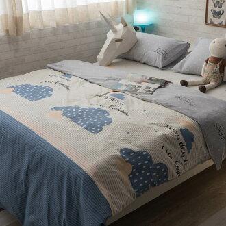 雲的淚 床包/被套/兩用被/枕套 單品賣場 100%復古純棉