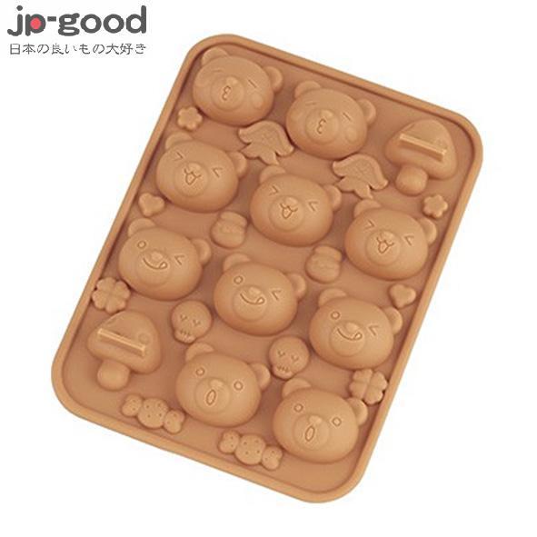 KAI 貝印矽膠巧克力模/製冰盒 - 小熊
