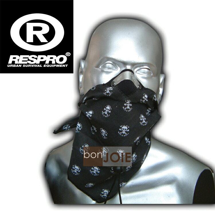 ::bonJOIE:: 英國進口 Respro Bandit Anti Pollution Scarf 領巾式口罩 (骷髏黑)(全新盒裝) 防污染面巾 自行車 腳踏車 單車 摩托車 運動