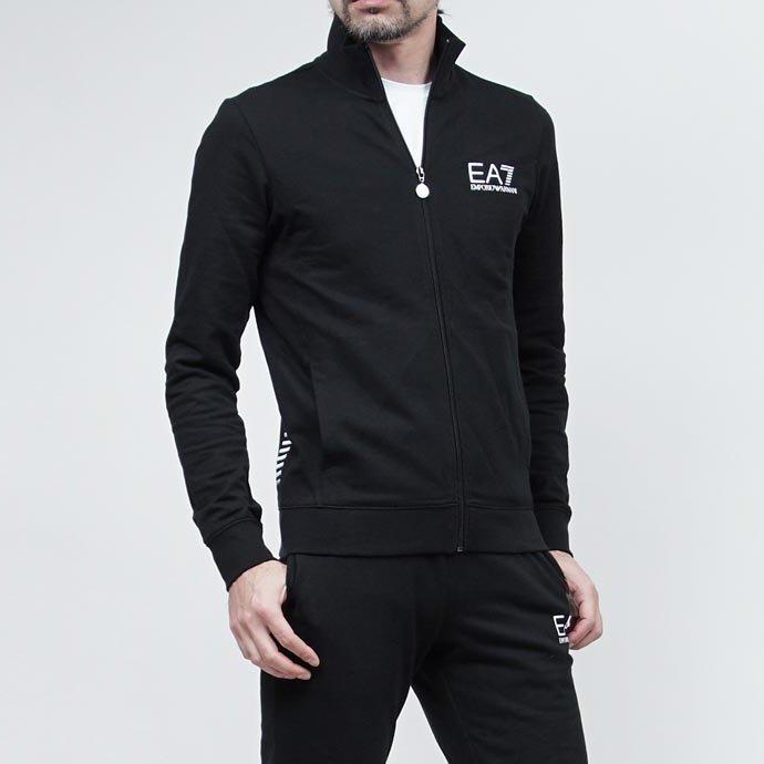 美國百分百【全新真品】Emporio Armani 阿曼尼 外套 立領 夾克 EA7 棉質 運動 深藍 XL號 H805