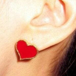 美麗大街【GE0275】歐美外貿飾品百搭小物 愛心造型 耳釘