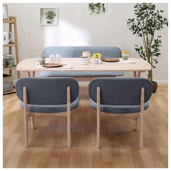 ◎橡膠木質餐桌椅四件組 RELAX WW / GY NITORI宜得利家居 1