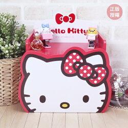 HELLO KITTY 造型單抽盒-紅 置物櫃 小物收納 文具收納 三麗鷗 Sanrio 蕾寶 生日禮物 畢業禮物 交換禮物 情人節禮物 聖誕節禮物 化妝盒