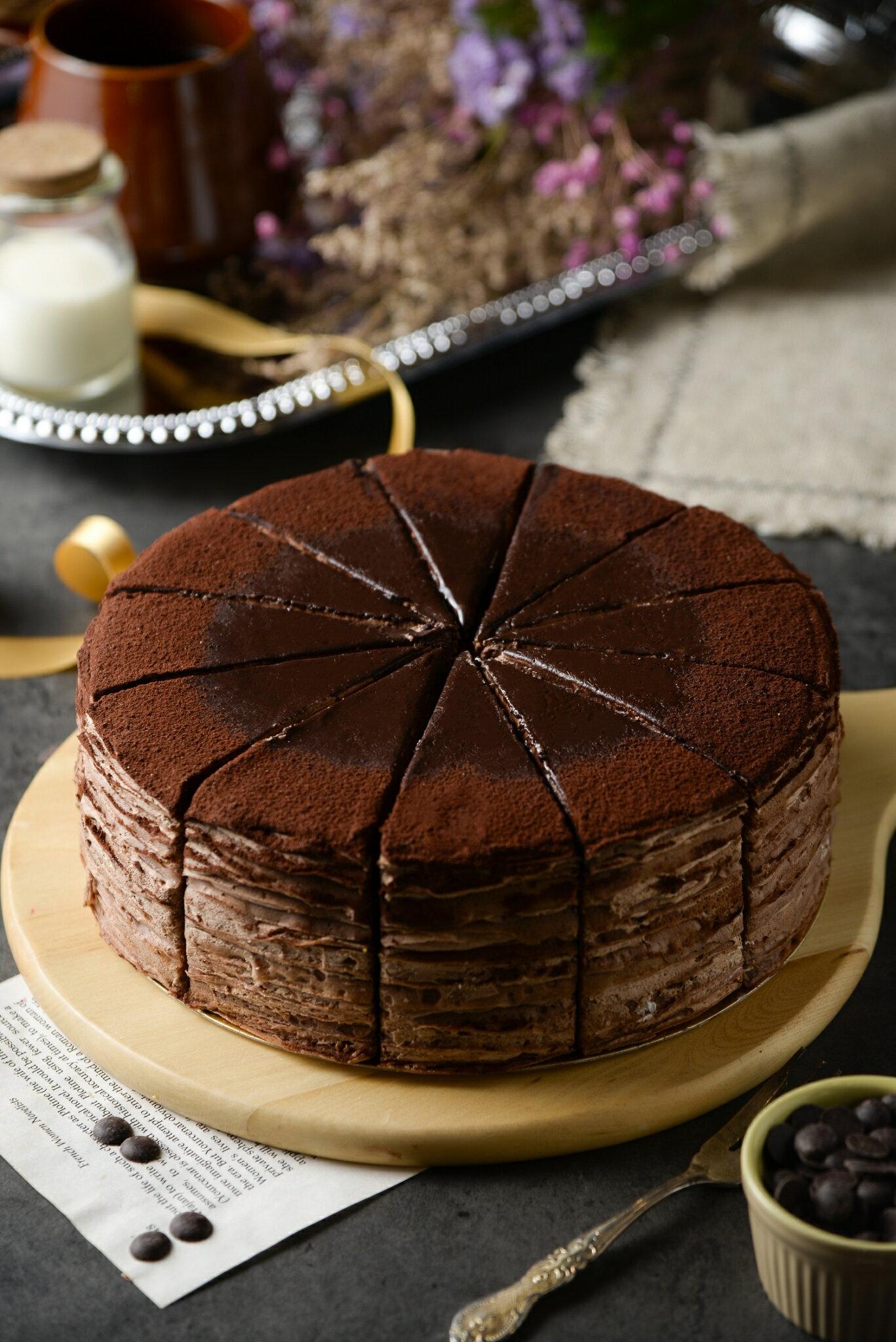 巧克力千層蛋糕 單片/8吋