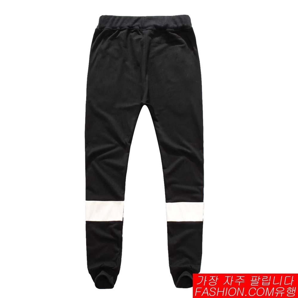 DITION 拉鍊背面反光皮革SPORT螺紋棉褲 2