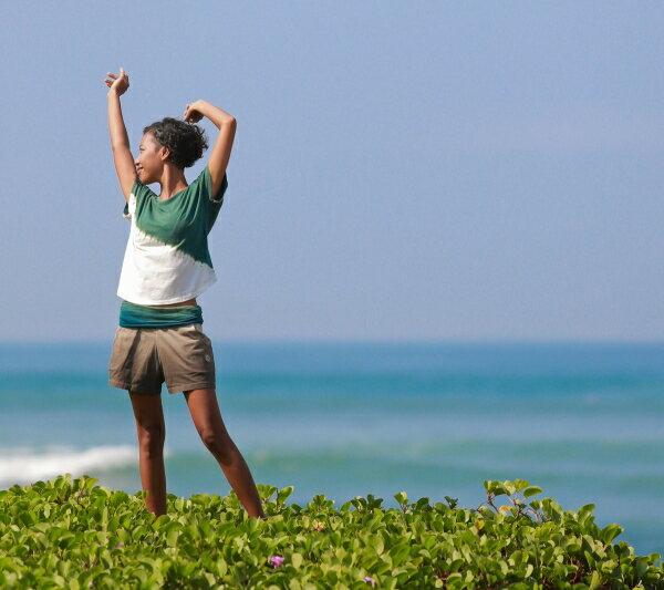 【Bali】100%有機棉IkatT恤 瑜珈服 6
