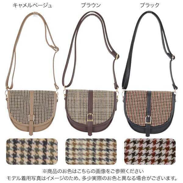 日本Kobe lettuce  / 復古半月格紋肩背包  /  b1302  /  日本必買 日本樂天直送(2640) 1