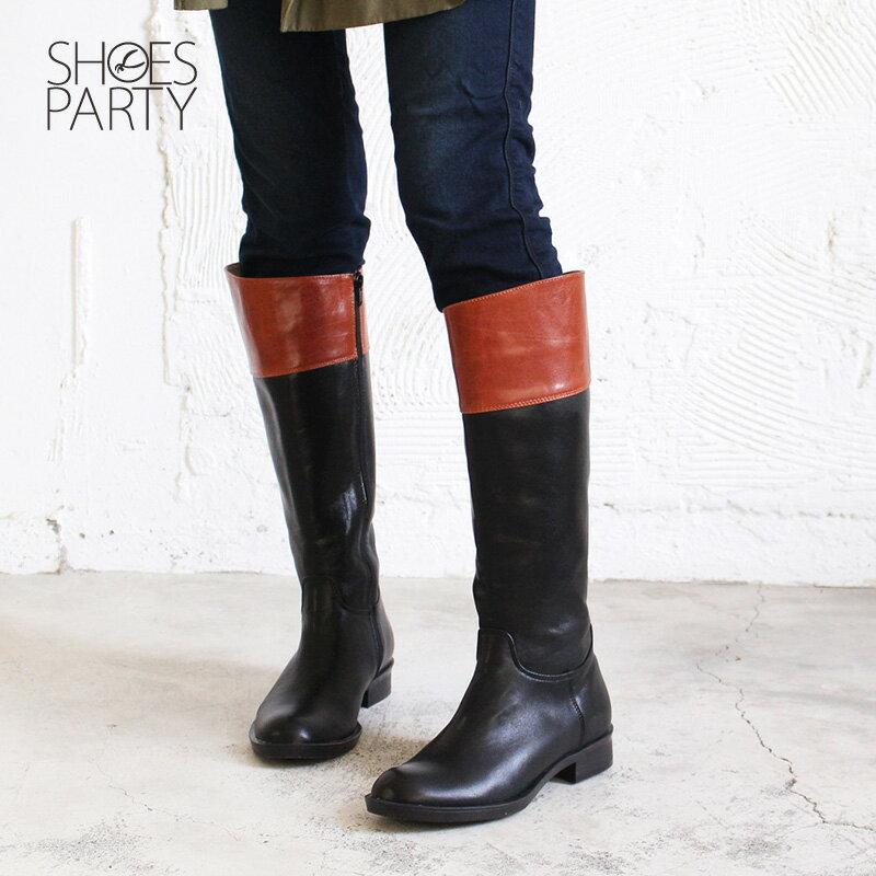 【B2-17340L】修飾小腿肚真皮率性乘馬靴_Shoes Party 5