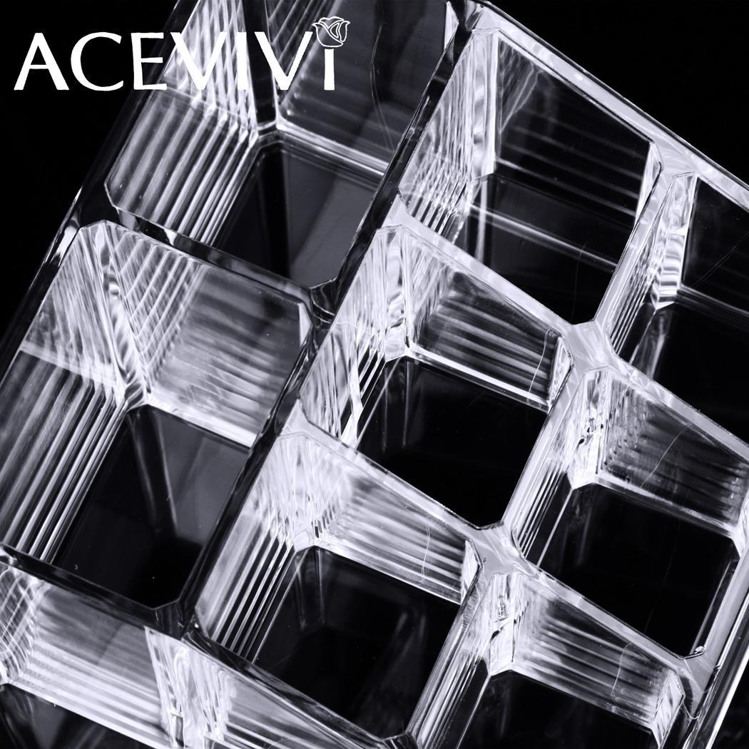 Acrylic Cosmetic Drawers Grids 2 Tiers Storage 4