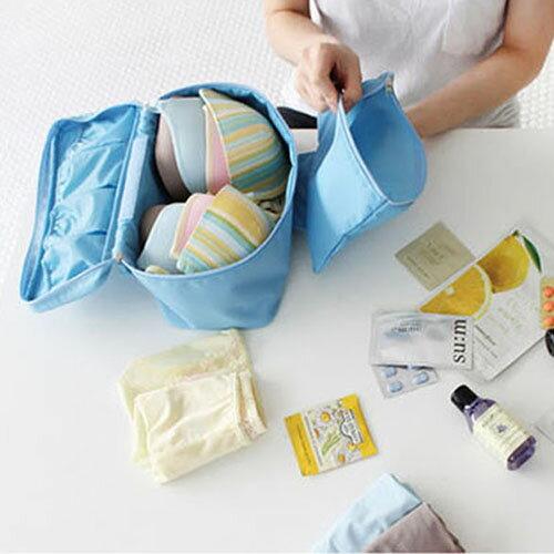 ~挪威森林~ 韓系高 旅行防水胸罩內衣收納包  盥洗包