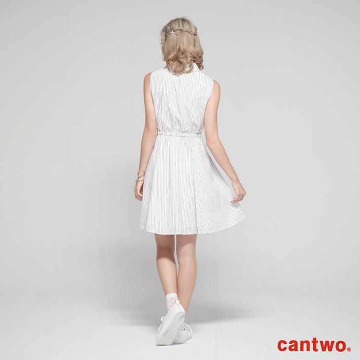 cantow襯衫領無袖洋裝(共三色) 3