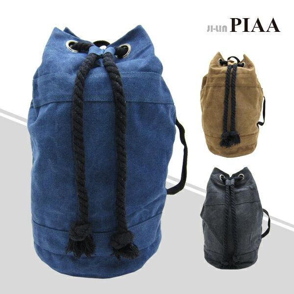 83-8142《PIAA 皮亞》束口可提雙肩背包 (三色)