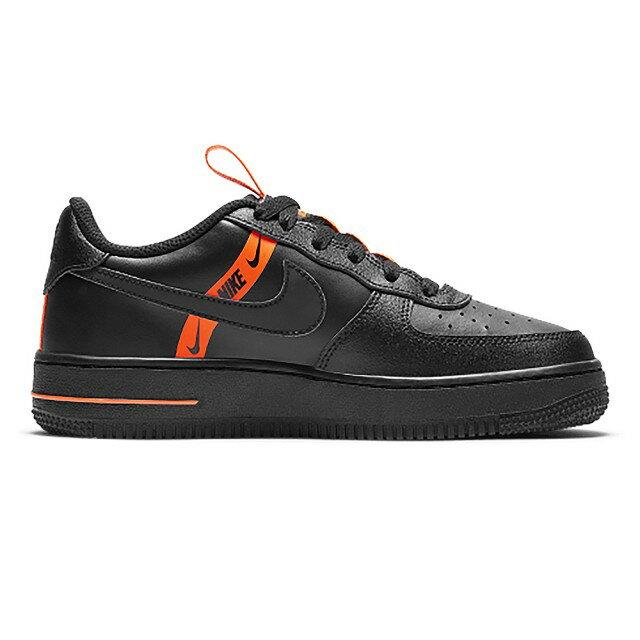 【滿額↘再折$250】【NIKE】Air Force 1 LV8 黑橘 女鞋 AF1 皮革 大童 反光 休閒鞋CT4683001(palace store)