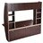 Wall Mounted Floating Computer Desk with Storage Shelves Laptop Home Office Furniture Black Walnut 4