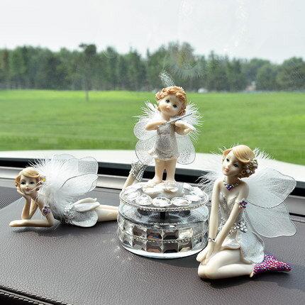 美琪汽車高檔創意可愛漂亮個性天使擺件車上香水裝飾用品