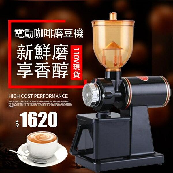 110V現貨 小型電動小飛鷹咖啡磨豆機咖啡豆研磨機商用單品手沖咖啡豆粉碎機 年貨大集Sale搶殺價