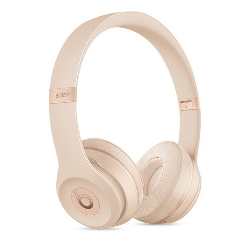 Beats by Dr. Dre Solo3 Wireless On-Ear Headphones Matte Gold Stereo - Wired/Wireless - Bluetooth - Over-the-head - Binaural - Circumaural 0