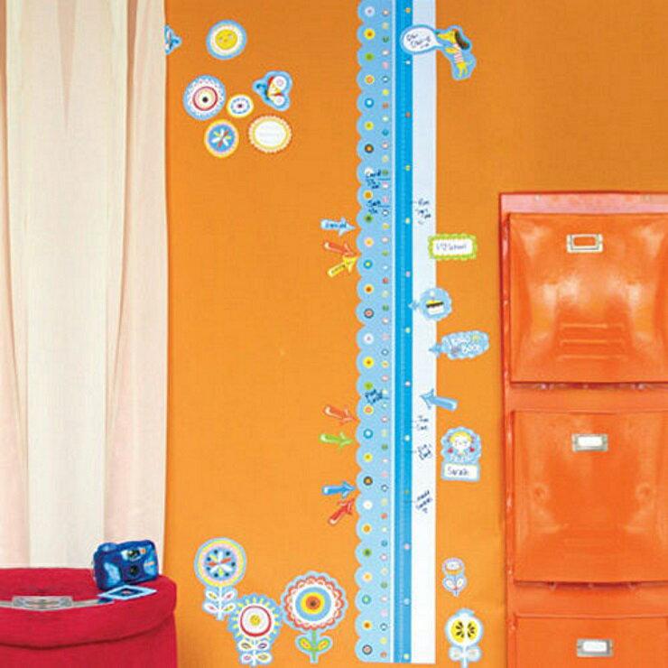 【寶貝樂園】美國Wallies創意輕鬆貼 寶貝身高尺- 成長記錄