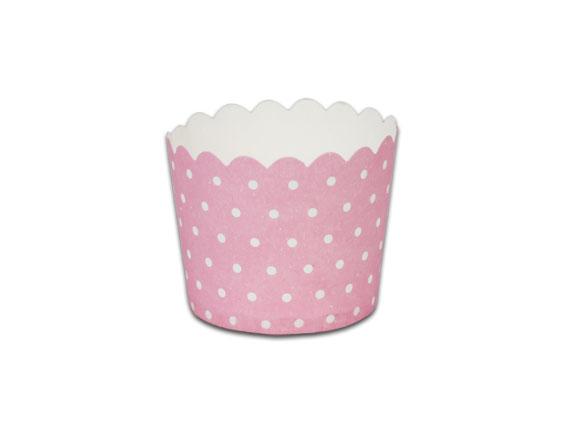 瑪芬杯、杯子蛋糕、烘烤紙杯 MF5040-04 粉底圓點(50pcs/包)
