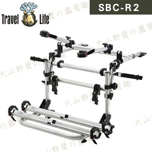 【露營趣】新店桃園 Travel Life 快克 SBC-R2 轎車鋁槽式攜車架 後背式攜車架 自行車架 單車架 腳踏車架