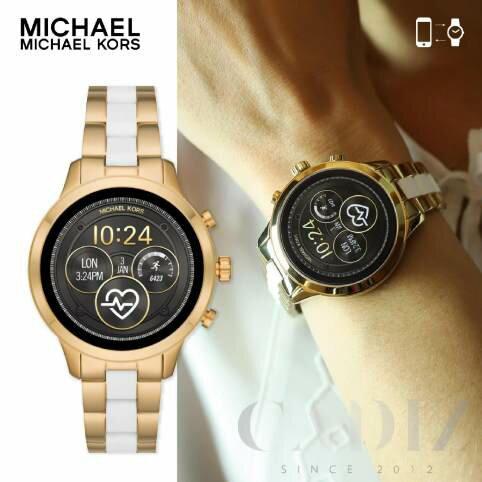 現貨 美國正品 Michael Kors Access Runway Gen4 金色混色錶帶語音智能追蹤手錶 MKT5057