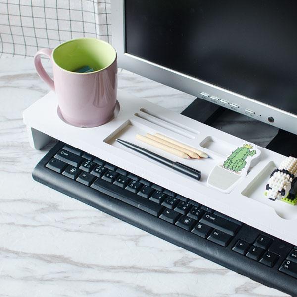 【aife life】(無法超取)多功能置物鍵盤架/桌上收納/電腦桌茶几/增高螢幕主機架/書桌抽屜/筆電扇熱/3C週邊/手機架/辦公室用品/床上懶人桌/非MUJI無印/贈品/禮品