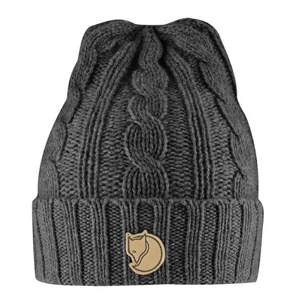【Fjallraven小狐狸瑞典】BraidedKnitHat羊毛帽保暖帽針織帽毛線帽毛帽冬季旅遊賞雪雪地保暖深灰色(77377)