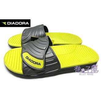 【巷子屋】義大利國寶鞋-DIADORA迪亞多納 男款三大機能兩片式調整輕量運動拖鞋 [8995] 灰綠 超值價$198