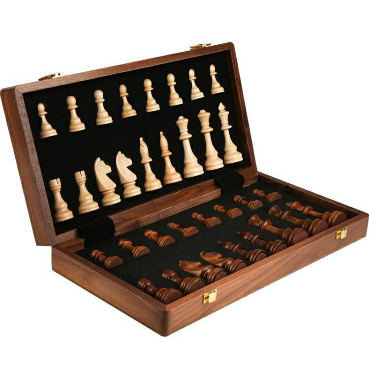 象棋 國際象棋實木高檔套裝大號兒童木質折疊棋盤西洋棋比賽專用『創意達旗艦店』