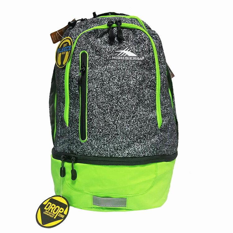 HIGH SIERRA美國戶外運動用品Stash hideout backpack雙層式後背包可收納6吋平板電腦-新秀麗Samsonite副牌-螢光錄+安全反光條限定版-H04-A0060【禾雅】