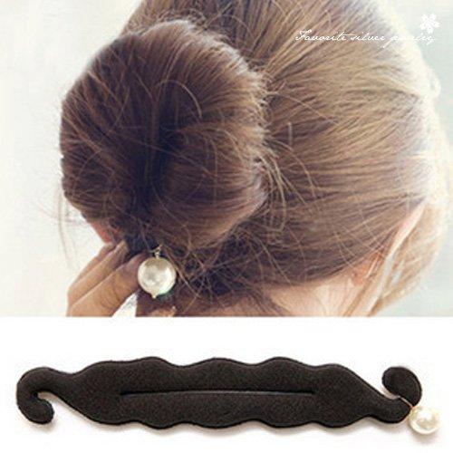 珍珠丸子頭盤髮器10133【櫻桃飾品】【10133】