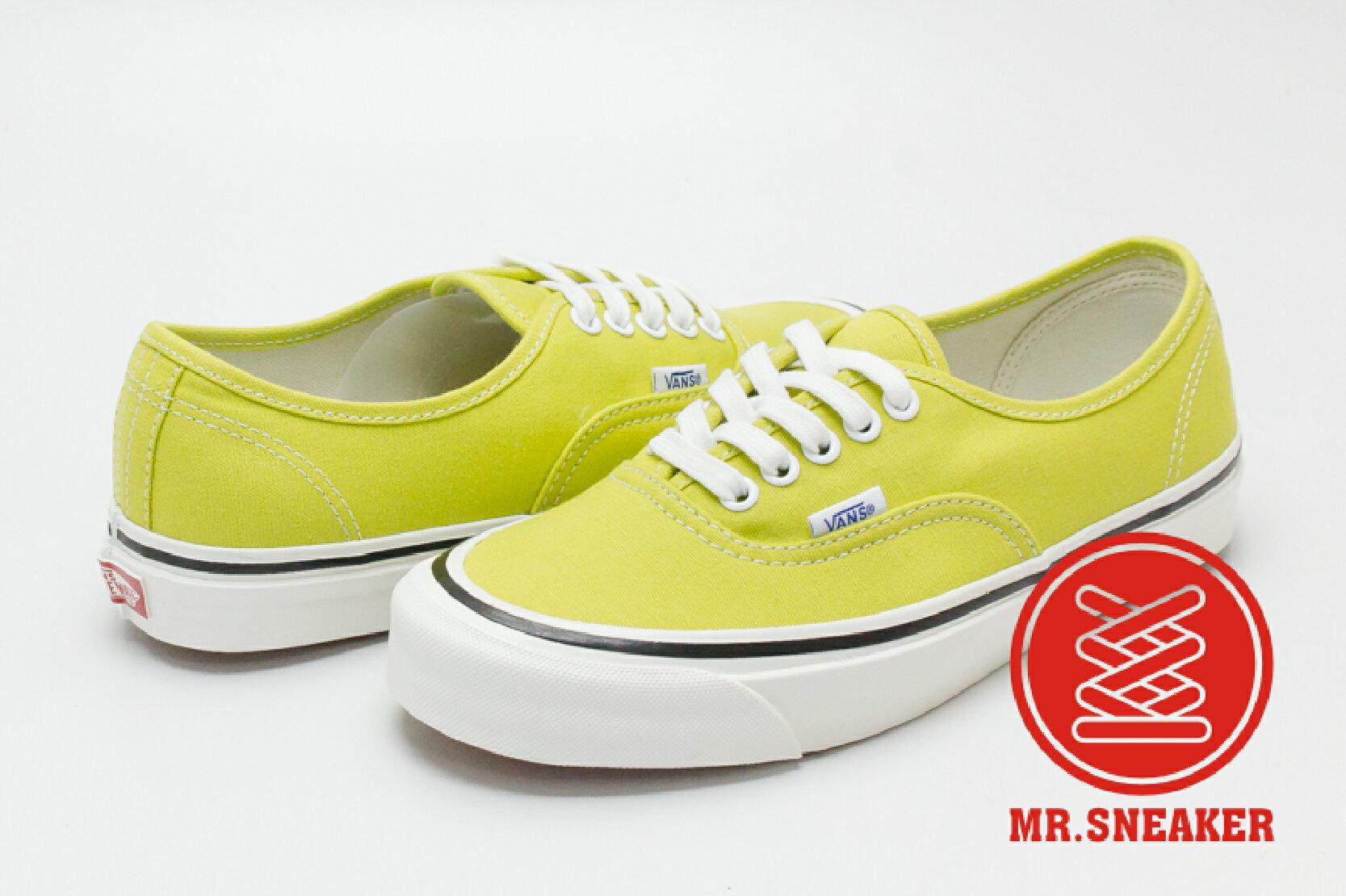 ☆Mr.Sneaker☆ VANS Anaheim Factory Authentic 44 DX 黃綠 女段