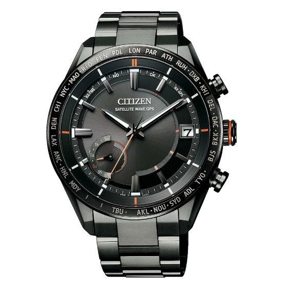 CITIZEN 星辰 CC3085-51E 代言人廣告款 / 時尚炫黑光動能GPS衛星對時腕錶 / 黑面43.5mm 0