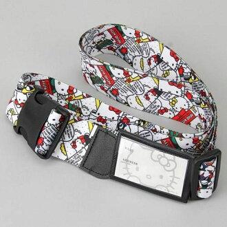 日本直送 Sanrio 三麗鷗 Hello Kitty 滿版大臉 行李箱 旅行箱 行李帶 束帶
