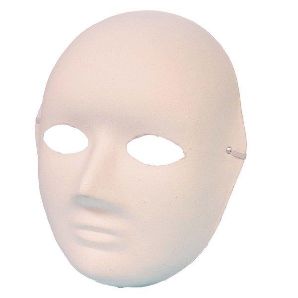 全臉面具 空白面具 DIY彩繪面具(加厚)/一袋50個入(定40) 附鬆緊帶 白臉譜 DIY面具 紙面具 紙漿面具 歌劇魅影-3036
