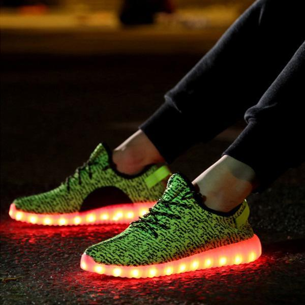 LED Light Lace Up Sportswear Sneaker Casual Shoes 1