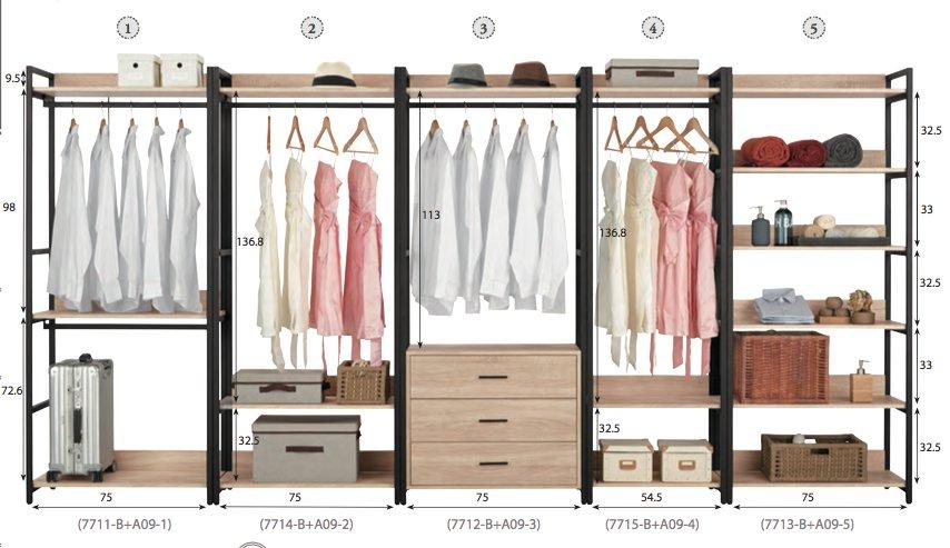 【石川家居】KM-557-2 艾麗斯2.6尺開放單吊衣櫃(編號2) (不含其他商品) 高雄到台北滿五千享折扣