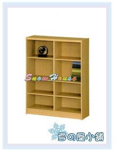 ╭☆雪之屋居家生活館☆╯AA554-02B-05白橡木書櫃(美背式)置物櫃收納櫃展示櫃附活動隔板4片
